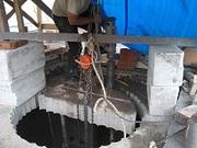 Сверление бетона,  отверстия в бетоне.