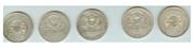 Пять серебрянных монет России,  20-е года