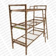 Кровати из металла для рабочих двух и трехярусные оптом